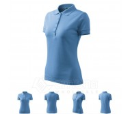 Polo marškinėliai ADLER Pique Polo Sky Blue, moteriški