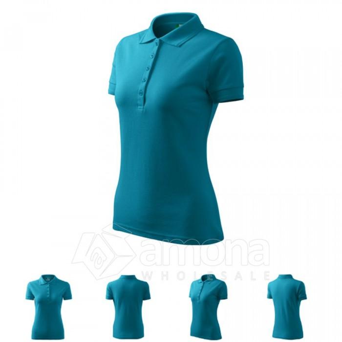 Polo marškinėliai ADLER Pique Polo Turquoise, moteriški