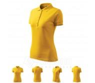 Polo marškinėliai ADLER Pique Polo Yellow, moteriški