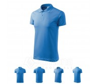 Polo marškinėliai ADLER Single J. Azure Blue, unisex