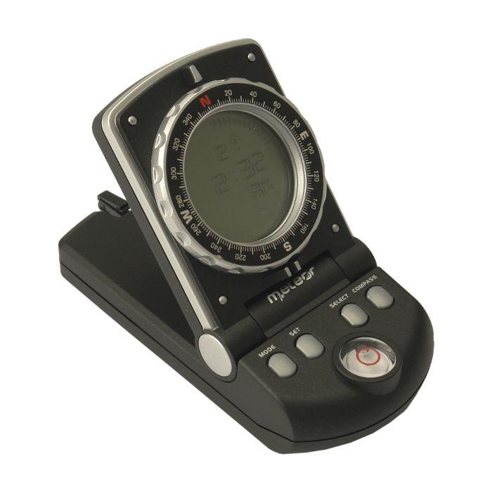 Profesionalus skaitmeninis kompasas Meteor su laikrodžiu ir termometru