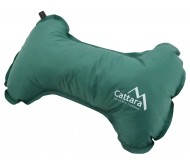 Savaime prisipučianti pagalvė Cattara Bone – žalia, 40 x 25 x 13 cm