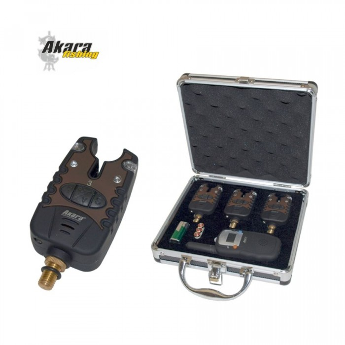 Signalizatorių rinkinys AKARA Carp Pro 3 vnt.+ Racija