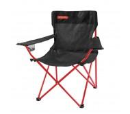 Sulankstoma kėdė ANGLER juoda/raudona