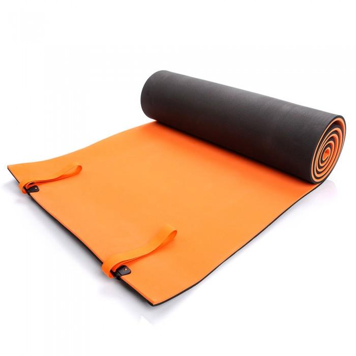 Turistinis kilimėlis EVA FOAM METEOR 2-LAYERD 180x50x1 cm, juodas/oranžinis