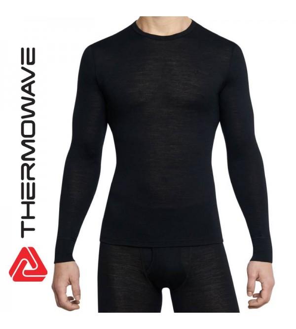 Vyriški Apatiniai Termo Marškinėliai THERMOWAVE Merino ONE50 Ilgomis Rankovėmis