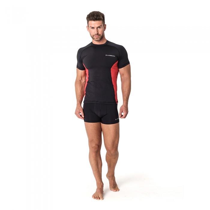 Vyriški termo marškinėliai WISSER RXM21 black/red