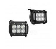 Žibintai automobiliams 18W LED, 6LE DX3W su lešiais 6500K