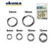 Žiedeliai OKUMA Split Saltwater 14mm. 32kg.