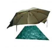 Žvejybinis Turistinis Skėtis (250 cm 4,20 kg Žalias)
